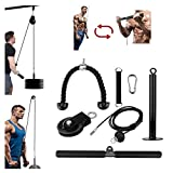 Musculation Poulie Haute et Basse Strength Blaster Exerciser Body Training Fitness Equipment with Heavy Duty Pulley System Gym Arm Strength Trainer for LAT Pulldowns