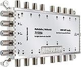 SCHWAIGER -5224- Multiswitch 5 > 16 | distributore SAT | Multiswitch digitale per la distribuzione del segnale | in combinazione con un sistema Quattro LNB | antenna parabolica | HD-TV | 3D | DVB-T2