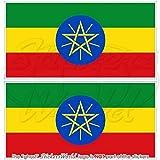 Äthiopien Äthiopische Flagge Afrika 109,2cm 110) Bumper Sticker, Aufkleber Vinyl X2