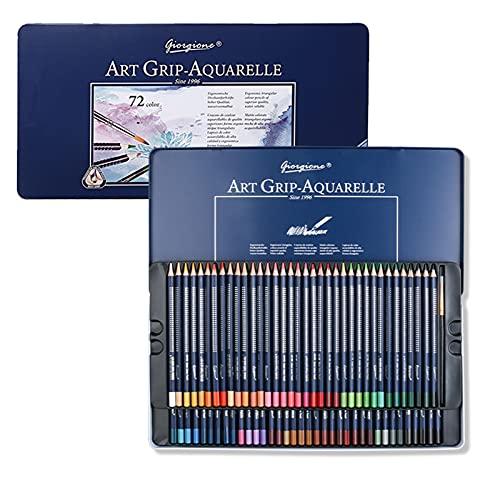 Eastdall Conjunto De Lápis De Cor,12/24/36/48/72 Conjunto profissional de lápis para aquarela Lápis de cor solúveis em água com caixa de metal