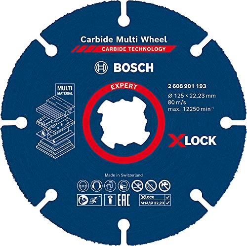Bosch Professional 1 x Discos de corte Expert Carbide Multi Wheel X-LOCK, para Madera dura, 125 mm, X-LOCK x, Accesorios Amoladora pequeña