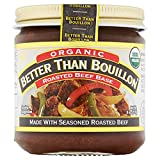 Better Than Bouillon Organic Roasted Beef Base, Made with Seasoned Roasted Beef, USDA Organic, Blendable Base for Added Flavor, 38 Servings Per Jar, 8 OZ (Pack of 1)
