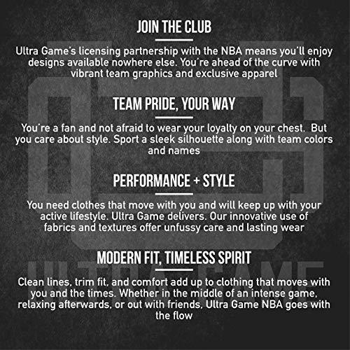 Ultra Game NBA - Sudadera de meter con capucha con polar para hombre, Gris, XXL