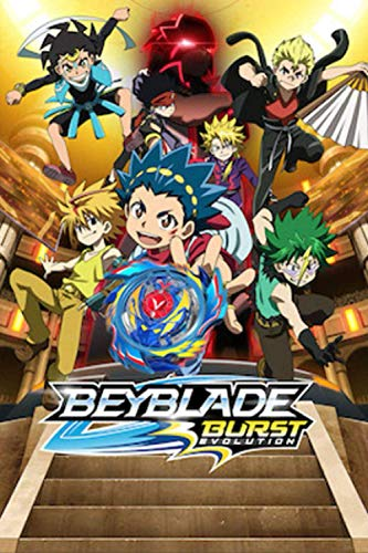 "Beyblade Burst Evolution: Writing Journal, Lined Notebook, A Great Gift For Kids All Ages, Best Gift Idea For Christmas, Birthday, New Year, (6"" x""9 100 Pages)"