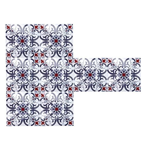 Azulejos adhesivos, adhesivo antideslizante para pared, azulejos impermeables para baños para gabinetes para cocinas para escaleras(BS68)