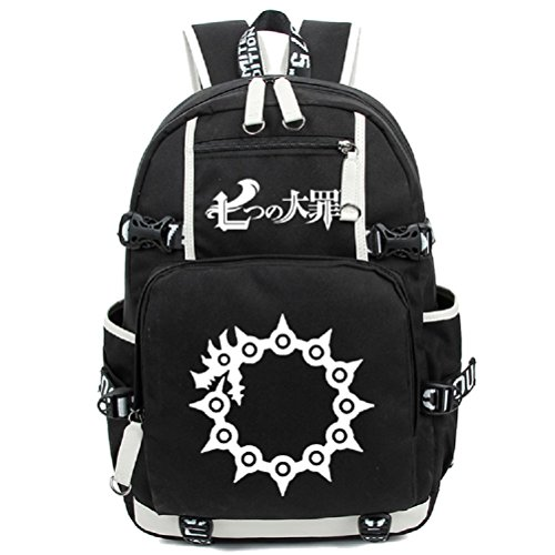 YOYOSHome Anime The Seven Deadly Sins Cosplay Bookbag Messenger Bag Rucksack Schultasche Gr. L, a