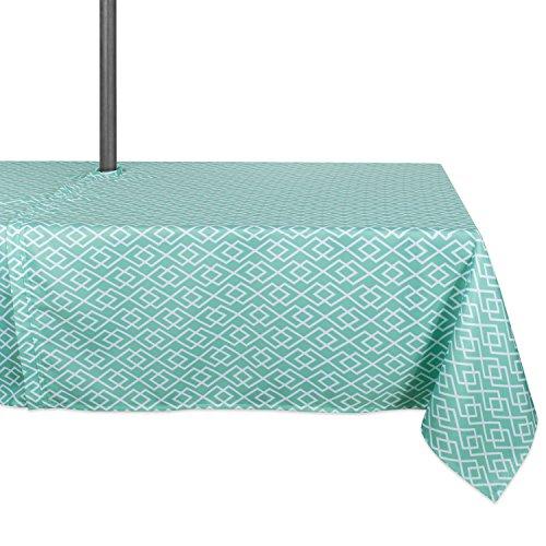 "DII Diamond Outdoor Tabletop Collection, Stain Resistant & Waterproof, 60x120"" w/ Zipper, Aqua"