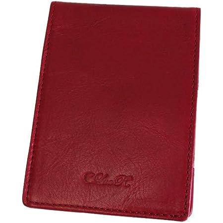 (シールアル) メモ帳カバー A7サイズ対応 本革 革 メモパッドカバー カバーのみ 全11色 CLuaR-BI (04.ダーク レッド)