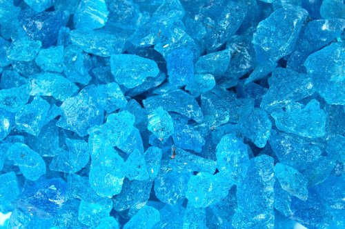 1kg Aqua Blue Glass Chippings (800 chipping approx) 3-15mm approx