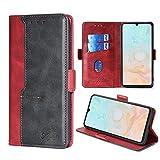 FiiMoo Handyhülle Kompatibel mit DOOGEE N20 Pro (2020),[Weicher TPU] [Kartenfach] [Magnetverschluss] [Aufstellfunktion] PU Leder Tasche Flip Wallet Hülle Schutzhülle Hülle für DOOGEE N20 Pro -Rot