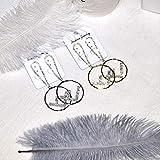 Aretes Elegantes Forma Redonda Carta De La Vendimia Rhinestone De Lujo Cuelga Aretes Gadgets Para Las Mujeres Banquete De Boda DePlata