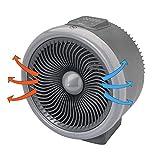 Bimar Calefactor Electrico HF205, Calentador de Ventilador Eléctrico y Ventilador Ciclónico de Bajo Consumo, Termostato Integrado, 2 Potencias de Calentamiento, Cuerpo de Plástico con Asa Integrada