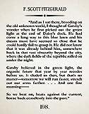 The Great Gatsby Literary Print Book Wall Art F. Scott