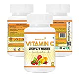 Herballeaf vitamin c-complex 1000mg with rosehip } acerola cherry   zinc   works as powerful antioxidant   regulates vision   90 tablets   45 days supply