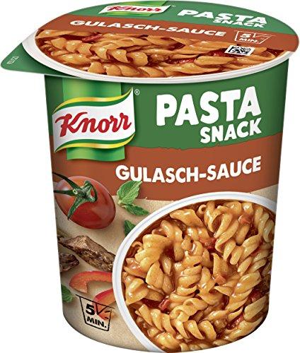 Knorr Pasta Snack Gulasch-Sauce (mit leckeren Nudeln) 8 x 60 g