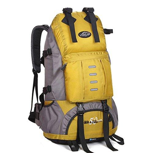 SINCERE@ Grande capacité Voyage sac à dos hommes et les femmes en plein air grand sac d'épaule alpinisme sac à dos 50L Backpack étanche