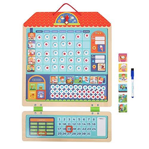 Hztyyier Magnetic Reward Behaviour Chore Chart für Kinder, Entwicklungsspielzeug aus Holz Tolles Geschenk für Mädchen und Jungen, 21,0 * 14,2 Zoll