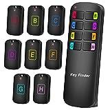 【最新】キーファインダー Key finder 探し物発見器 忘れ物探知機 落し物防止探す アラーム の置き忘れ 鍵 紛失防止 音の出る 使用便利 (8in1) 操作簡単 CR2032のボタン電池8つ付き 小型 子供 両親 プレゼントに最適