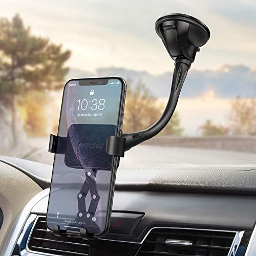 Mpow Handyhalterung Auto, Schwerkraft Windschutzscheiben-Handy-Autohalterung mit haltbarem, case-friendly kompatibel mit iPhone 8,8Plus, X, XR, XS, XS MAX, Galaxy S10, S9, S8, Note9 und anderen Handys
