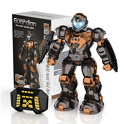 Robot Toys for Kids Ages 5 6 7 8 9 10, Programmable Smart RC Robot with 2.4Ghz Remote Controller,...
