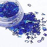 Barney Novedad Nueva Holográfica Colorido Uñas Copos Carta Diseño Láser 3D Nail Art Decoración Consejos (None BL)
