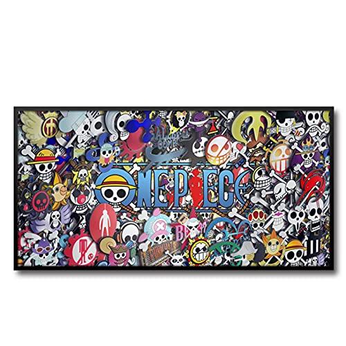 Cherry blossoms Pinturas de dibujos animados y animación de una pieza, carteles de decoración de sala de estar, cuadros de cabecera de habitación de los niños, (Color: B)