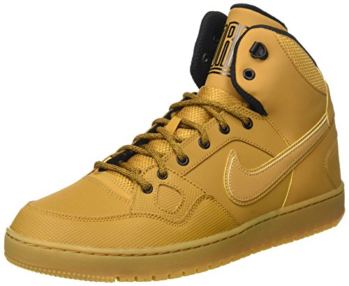 NIKE Men's Son of Force Mid Winter Basketball Shoe, Black/Black/Anthracite/Gum Light Brown, 10...
