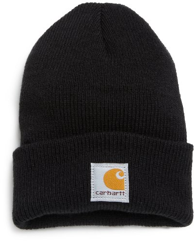 Carhartt Boys' Acrylic Watch Hat, Caviar Black, One Size