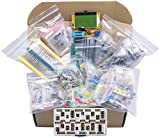 XL Electronic Component Kit Assortment, Capacitors, Resistors, LED, Transistors, Diodes, Zener, Potentiometers, Cutter, LCR-T4 Component Tester, IC Box, 1870 pcs