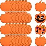 60 Piezas Calabazas de Espuma Kit de Artesanía de Formas de Calabaza de Halloween Kit Artesanal de...