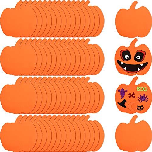 60 Piezas Calabazas de Espuma Kit de Artesanía de Formas de Calabaza de Halloween Kit Artesanal de Decoración de Calabaza de Espuma para Manualidades Infantiles Decoración de Halloween