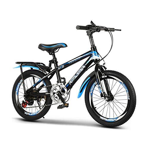 JHNEA Bicicleta Infantil para niños y niñas a Partir de 9-15 años, Bicicleta Infantil Estudio Aprendizaje Montar a Caballo Bicicleta niños niñas Bicicleta,Blue 7 Speed_24 Inch