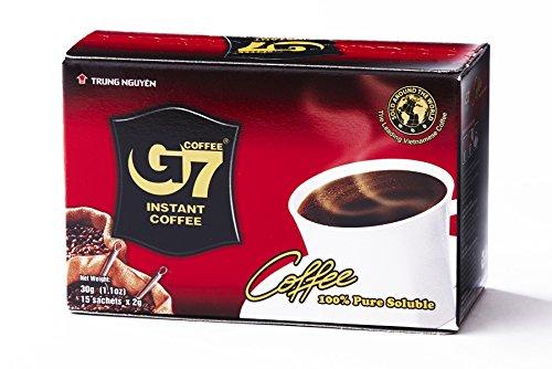 Trung Nguyen Coffee G7 Instant Coffee 100 Prozent reiner schwarzer Kaffee 30 g Vietnam