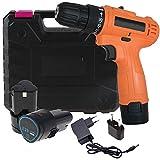 cordless 12v Electric screwdriver machine 10mm multipurpose reverse forward torque Setting wireless screw gun cum drill for Home use (10 mm/12v/1350Rpm/230v/Multicolor/Plastic)