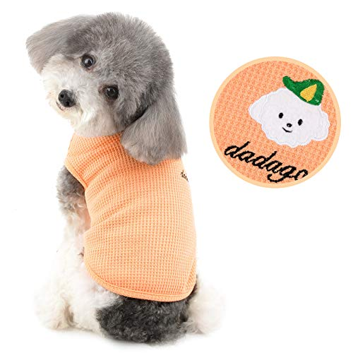 Ranphy Haustierkleidung für kleines Hundehemd Weste Hunde Muskelshirt Atmungsaktiv Gestrickte T-Shirts Sommer ärmelloses Sweatshirt Pullover Kleidung für Chihuahua Yorkshire Terrier Rosa XXL