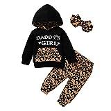 Loveablely Baby Girl Kleidung Set Neugeborene Outfit Tarnung Kleidung Daddy's Girl Mama's Girl Langarm Hoodie Sweatshirt Hosen Casual Kostüm Set