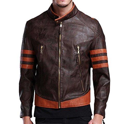 Herren Mode Motorrad Stil Leder Logan Jacke Kleidung Mantel High Quality Halloween Cosplay Costume