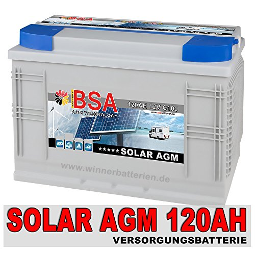 Solarbatterie 120AH 12V AGM GEL Batterie Wohnmobil Versorgungsbatterie Boot Schiff Mover 100AH