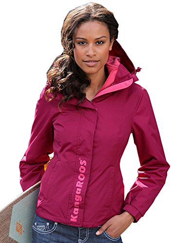 KangaROOS Damen 2in1 Funktionsjacke Funktions Jacke Fleecejacke Beere 36