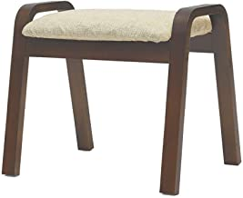 Yxsdd Stool Shoe Replacement Stool Footrest Upholstered Wooden Stool Dustproof Corridor Stand Bench Seat Cushion Made of L...