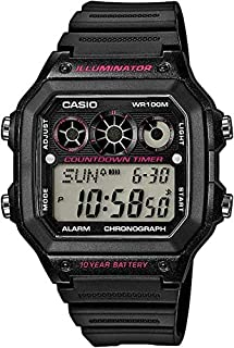Casio Men's Digital Dial Resin Band Watch - 1300WH-1A2VDF