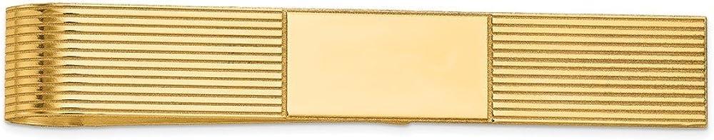14K Yellow Gold Tie Bar/Money Clip