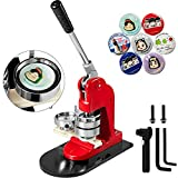 Mophorn Button Maker 32mm 1.25Inch Button Maker Machine Badge Punch Press Pin Button Maker with Free 1000 Pcs Button Parts and Circle Cutter (1000pcs 32mm 1.25inch)