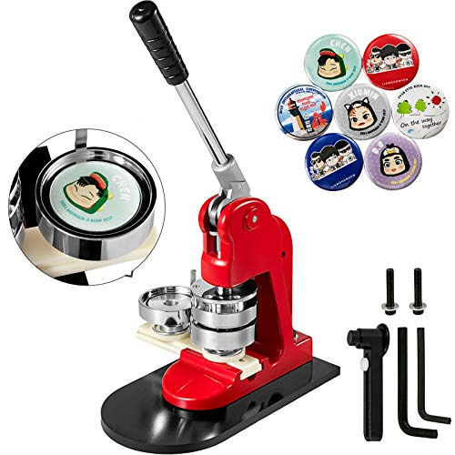 Mophorn Button Maker Button Maker Machine Button Badge Maker 1 Inch 25mm Aluminum Frame 500 Parts Circle Cutter