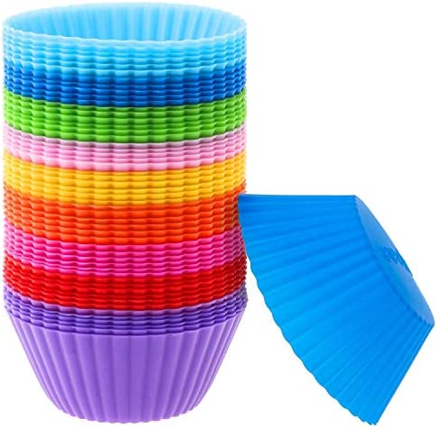 Silicone Muffin Cups Selizo 54 Pcs Silicone Cupcake Baking Cups Reusable Muffin Liners Cupcake product image