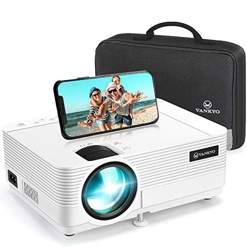 Videoprojecteur, VANKYO Supporte 1080P Full HD Projecteur Retroprojecteur Portable Multimédia Home Cinéma Compatible VGA HDMI AV USB