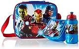 Cerdá - Portameriendas Termico con Botella Infantil y Tupper para Niños de The Avengers - Licencia Oficial Marvel Studios®
