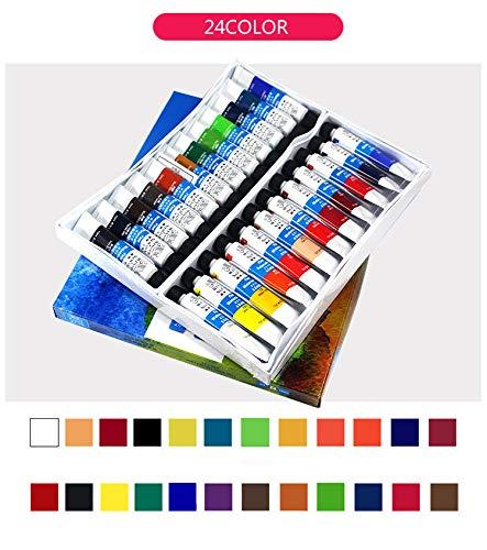 Pinturas de acuarela profesional de alta calidad con pigmento para pintura artística (12/18/24) 24color