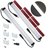 Litever Extra Under Cabinet Lighting Bars,12VDC, 5000K Daylight White, with Mounting Clips, Screws, Self-adhesive Pads. Compatible with Litever LL-008 Series ONLY-[2-Pack-5000K]