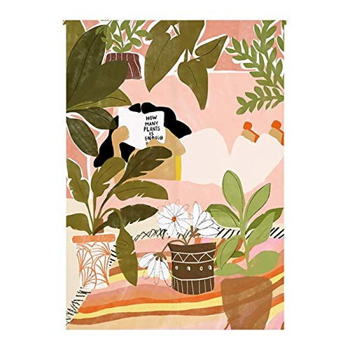 SK Studio Noren Cortina de Puerta de Estilo japonés con asta para decoración del hogar 09, 85x90cm